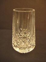 "Diamond & Stripe Cut Crystal Glass Bud Flower Vase, 4"" Tall X 2 1/2"" Widest"