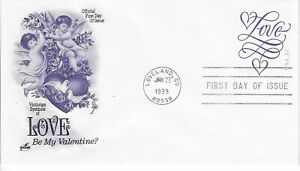 US Stamps. 33 Cent. Love. Valentine's Day. First Day Cover. Scott# U644.