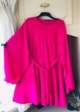 -BOOHOO- BRIGHT PINK FLARED ARM Blogger FAV SKATER DRESS SIZE 26 £30! SOLDOUT