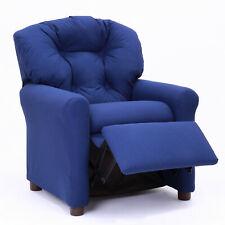 Blue Traditional Kids Recliner Children Soft Comfortable Reading Book Sofa Chair