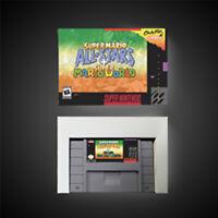 Super Mario All-Stars + Super Mario World USA With Retail Box RPG Game Battery
