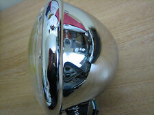 "5 3/4"" Chrome Head Light B/M Fits Harley Custom Bobber Chopper Trike Cycle Haven"