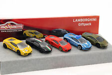 5-car Set Lamborghini Negro/Verde / Amarillo/Rojo/Azul 1:64 Majorette