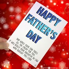 Funny Father's Day Card Funny Card For Dad Daughter In Law Card For Him  PC255
