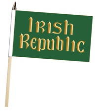 Ireland Easter Rising Irish Republic Large Hand Waving Courtesy Flag