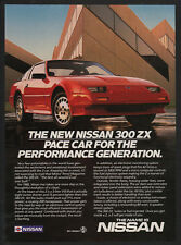 1986 Red NISSAN 300 ZX Sports Car - Pace Car Performance Generation - VINTAGE AD