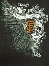 2010 World Series Champions San Francisco Giants Black Tee Shirt Size M