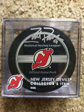 Zach Parise Autographed New Jersey Devils Official Game Puck w Steiner COA