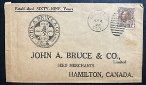 1923 Milumay Canada Advertising Cover To Hamilton Seeds Trade