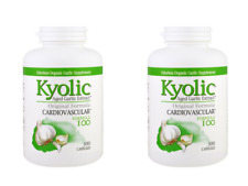 2 X Kyolic Aged Garlic Extract Cardiovascular Capsules ( 600 Caps Total)