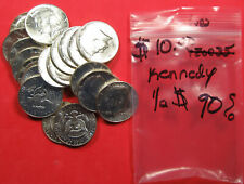 20 Coins - 1964 $10 Face 90% Silver Kennedy Half Dollars. AU/Unc. (720252)