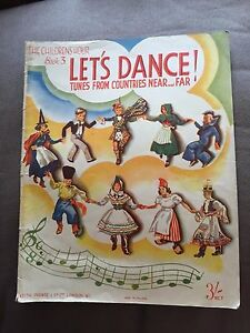 "1937 ""LETS DANCE...TUNES FROM COUNTRIES NEAR & FAR"" BOOK 3 SHEET MUSIC SONGBOOK"