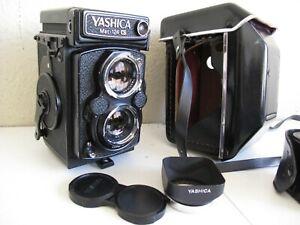 Yashica-Mat 124G TLR Medium Format 6x6 Camera w/80mm Lens, Case/Hood 124mm