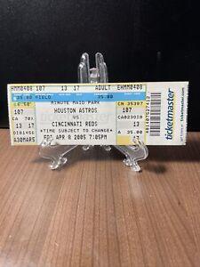 HOUSTON ASTROS VS CINCINNATI REDS TICKET UNUSED VINTAGE APRIL 8 2005