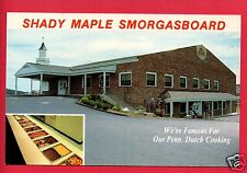 EAST EARL PA SHADY MAPLE SMORGASBOARD PENN DUTCH COOKING  POSTCARD