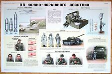 Original Poster USSR Military - Chemical Weapon Mass Destruction Russia Army