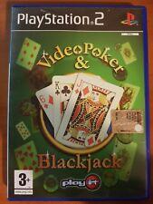 VIDEO POKER & BLACKJACK - PLAYSTATION 2 PS2 USATO