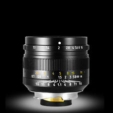 50mm F1.1 Porträt Fixed Fokus Objektive Für Leica M-Mount Kameras Schwarz Neu