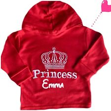 Personalised Baby,Children Top, Blouse, Jumper,Hoodie Name Princess Outfit Gift