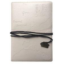 WHITE WORLD TRAVEL JOURNAL Embossed Bucket List HolidayTravellers Notepad Book