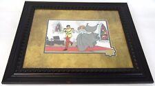 """Antique 25"""" Framed 1950 Walt Disney Limited Cinderella Wedding Serigraph Cel Art"""