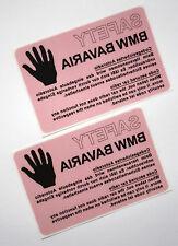 BMW Bavaria alarme autocollant alarme alarme autocollant Autoradio 2 pièces