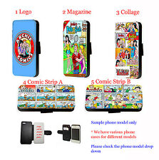 Archie Inspired Comic Cartoon leather wallet phone case for iPhone Samsung HTC