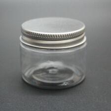 2PCS PET Cosmetic Jar Packaging Container Aluminum Cap Plastic Bottles 50G
