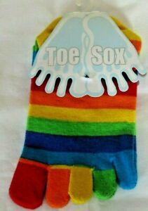 Toe Socks Sox Rainbow Trainer One Size K5
