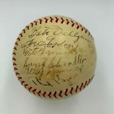 1937 Newark Bears Yankees World Champs Team Signed Baseball JSA Best Team Ever