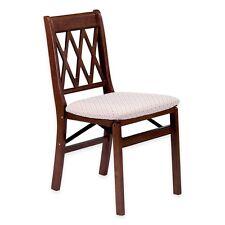 Stakmore 0225.6H792 Lattice Back Folding Chair (Set of 2)