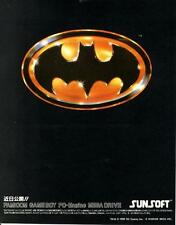 Batman FC GB PC-Engine MD 1989 JAPANESE GAME MAGAZINE PROMO CLIPPING