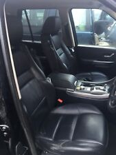 RANGE ROVER SPORT L320 SET OF 5 FRONT & REAR ELECTRIC LEATHER SEATS BLACK