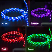 LED Light up flowing Visible Micro Type-C Charger Data Cable Charging Cord Phone