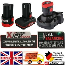 Parkside 12V 2Ah 4Ah Battery Or With Charger Fit All Tools In X12V Team Series