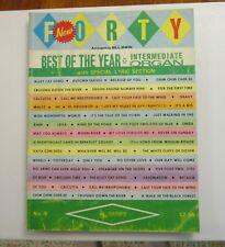 1965 Hansen Forty 40 Best of the Year Intermediate Organ Songbook Sheet Music