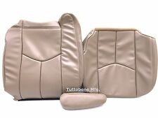 "03-06 SIERRA/AVALANCHE/SILV LEATHER DRIVER BACK/BOTTOM/ARM-NEUTRAL""TAN"" #522/15i"