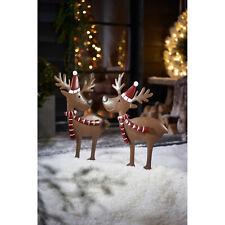 Gartenstecker-Set, 2-tlg. Rentiere Weihnachtsdeko Outdoor -  L37 x B2,5 x H66 cm