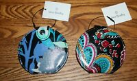 NWT Vera Bradley small POCKET MIRROR for cosmetics travel tote backpack or purse