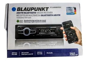 New In Box Blaupunkt Car Audio Media Receiver With Bluetooth And Remote