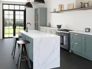 luxury Silestone Quartz calacatta gold marble White kitchen worktops  premium