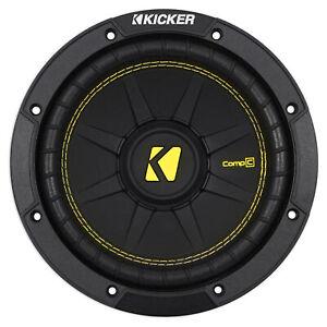 "KICKER 44CWCS84 CompC 8"" 400 Watt Single 4-Ohm Car Audio Subwoofer Sub CWCS84"