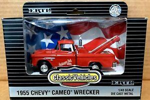 1955 Chevy Cameo Wrecker (RED) 1:43 Ertl Die-Cast
