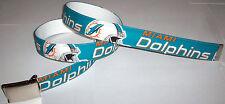 Miami Dolphins BELT & Buckle Pro Football Fan Game Gear NFL Shop Team Apparel FL