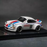 Pre-order Model Collect x SO Model 1:64 Porsche RWB 930 black//gold wheel Car