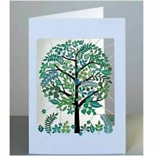 Forever Laser-cut Card - GreenTtree with Pretty Leaves