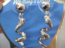 Vintage Rare Witing & Davis Coiled Snake Dangle Earring New