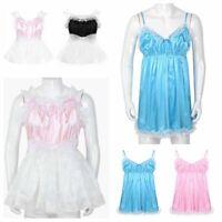 Mens Women Sissy French Maid Dress Costume Lace Underwear Sleepwear Fancy Dress