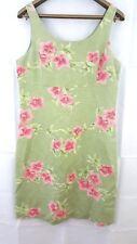 Tommy Bahama Women's Dress Size 8 Green Floral Hawaiian Sleeveless 100% Silk
