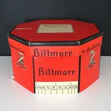 Large Vintage Biltmore Master Hat of Canada Box Octagon Shape Original Red Black